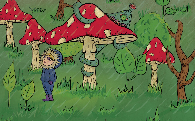 Creepy forest illustration