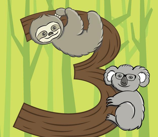 Sloth and Koala