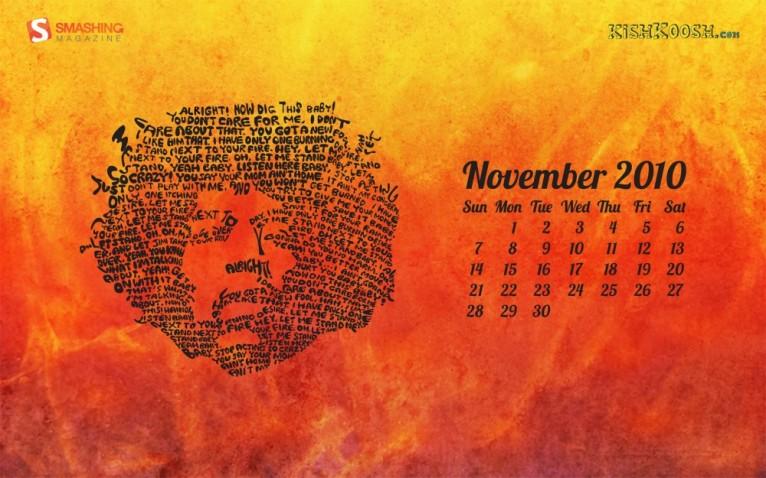 Hendrix Desktop Calendar