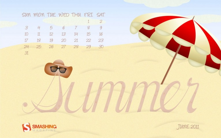 Summer Desktop Calendar