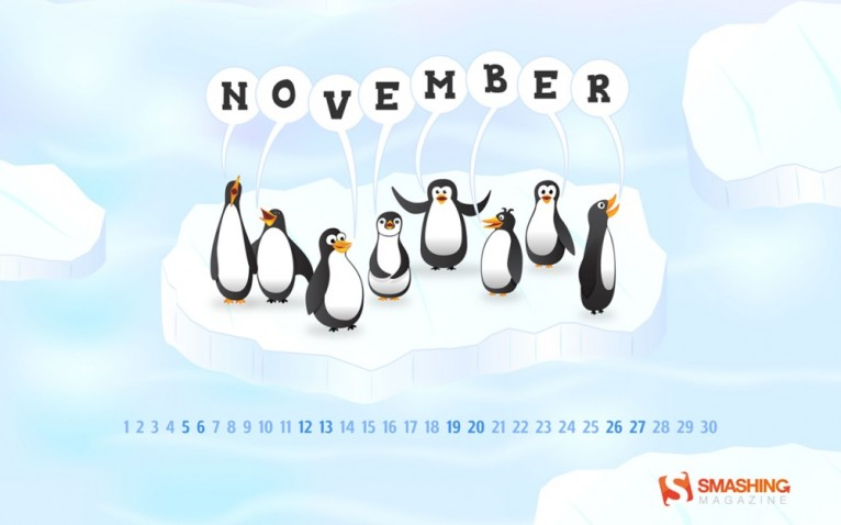 The Penguin Choir Desktop Calendar